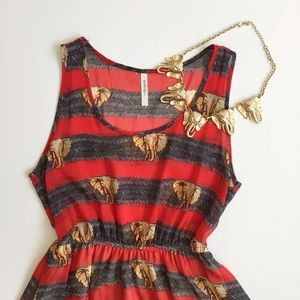 Funky and cool elephant print dress